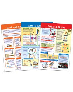 Forces and Motion Bulletin Board Chart Set