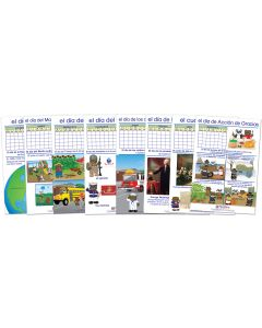 Important People & Events Bulletin Board Chart Set of 8 - Early Childhood Spanish Edition