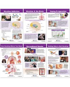 Effects of Smoking & Vaping Bulletin Board Chart Set of 6