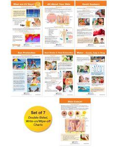 UV Rays & Sun Safety Bulletin Board Chart Set of 7