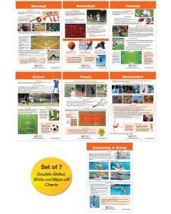 Play Sports! Bulletin Board Chart Set of 7