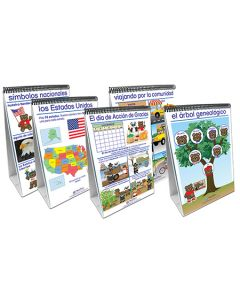 Social Studies Readiness Flip Chart Set - Set of 5 - Early Childhood - SPANISH EDITION