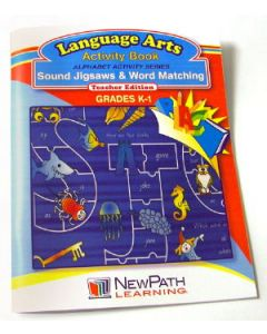 Alphabet Activity Series - Sound Jigsaws and Word Matching  Workbook - Grades K - 1 - Print Version