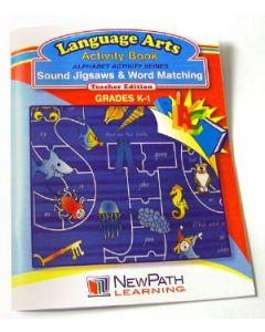 Alphabet Activity Series - Sound Jigsaws and Word Matching  Workbook - Grades K - 1 - Print Version